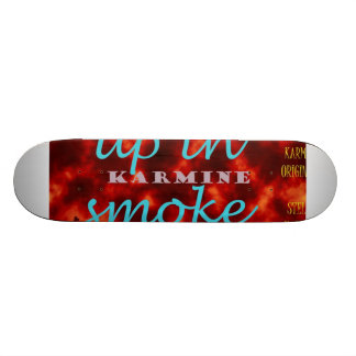 Burn up the ramps & leave 'em up in smoke. skateboard deck