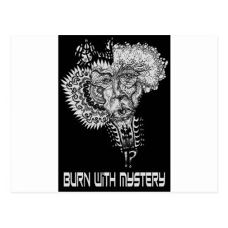 Burn with Mystery Postcard