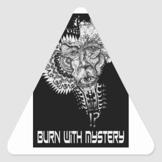 Burn with Mystery Triangle Sticker