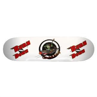 """Burn You Down"" Board with Flying Tiger Art Skate Board Deck"