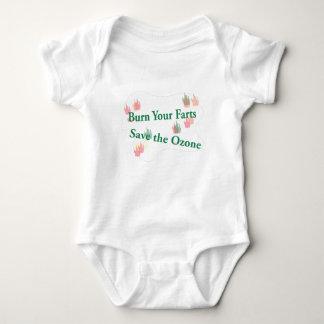 burn your farts baby bodysuit