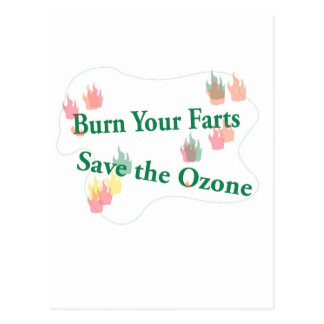 burn your farts postcard
