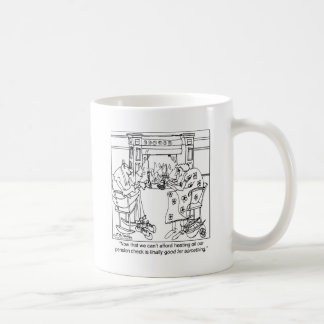 Burn Your Pension Check to Keep Warm Classic White Coffee Mug