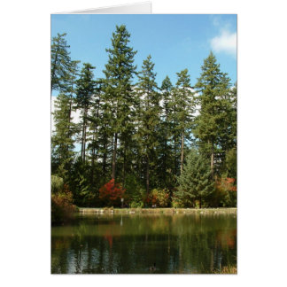 Burnaby's Central Park - Upper Pond in Autumn Card