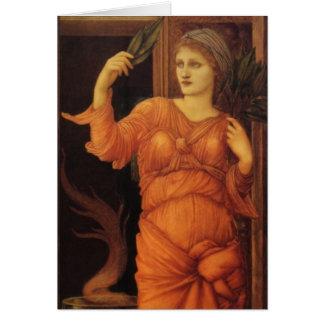 Burne Jone Sybilla Delphica fine art Greeting Cards