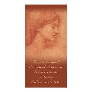 Burne-Jones CC0182 que conforta la tarjeta de la f Tarjetas Fotográficas Personalizadas