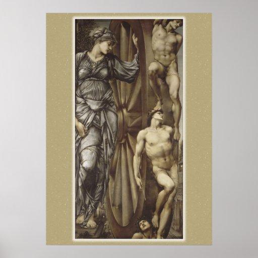 Burne-Jones Wheel of Fortune CC0183 Poster
