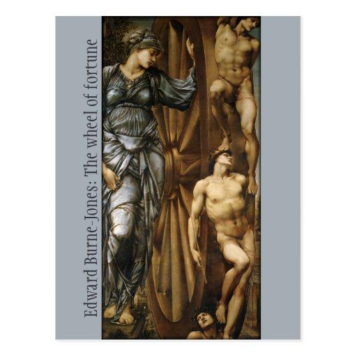 Burne-Jones Wheel of Fortune CC0424 Postcard