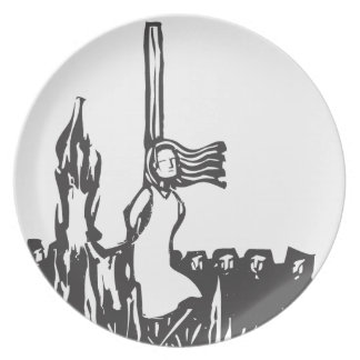 Burned at the Stake Melamine Plate