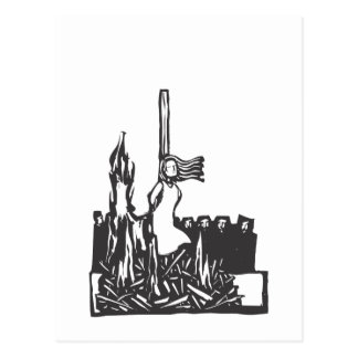 Burned at the Stake Postcard