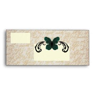 Burned Butterfly #10 Envelope