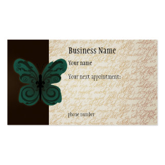 Burned Butterfly Appointment Card Double-Sided Standard Business Cards (Pack Of 100)