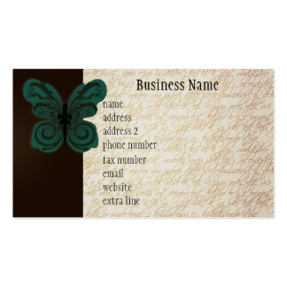 Burned Butterfly Business Card
