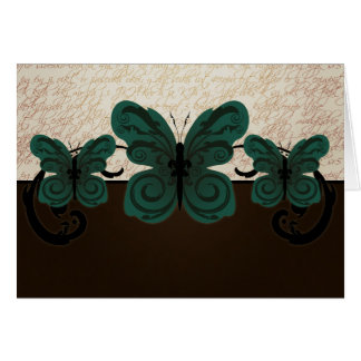 Burned Butterfly Card