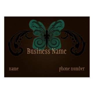 Burned Butterfly Chubby Business Card