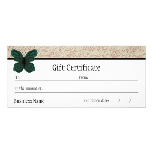 Burned butterfly gift certificate zazzle for Zazzle gift certificate