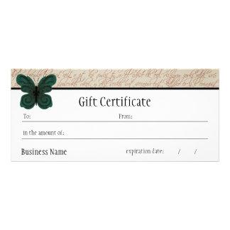 Burned Butterfly Gift Certificate Custom Rack Card