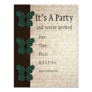 "Burned Butterfly Invitation 4.25"" X 5.5"" Invitation Card"