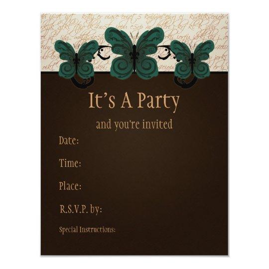 Burned Butterfly Invitation