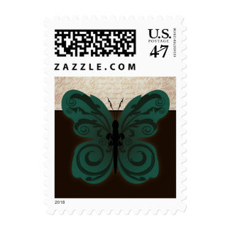 Burned Butterfly Postage Stamp