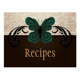 Burned Butterfly Recipe Postcard