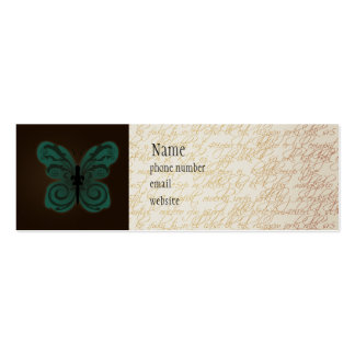 Burned Butterfly Skinny Business Card