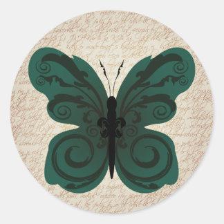 Burned Butterfly Sticker