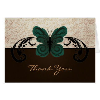 Burned Butterfly Thank You Card