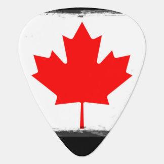 Burned Canadian Guitar Pick