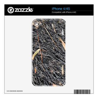 Burned Grass Decals For iPhone 4