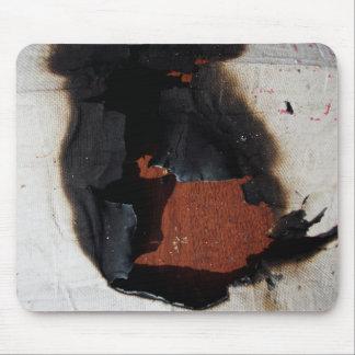 Burned papper mouse pad