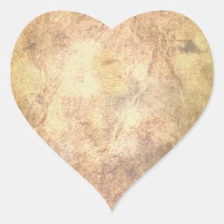 Burned Parchment Heart Sticker