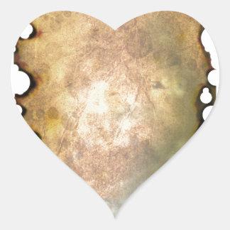 Burned Parchment II Heart Sticker