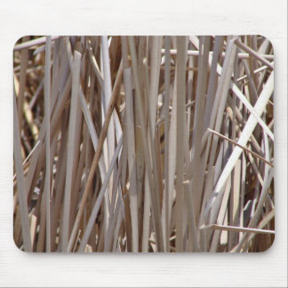 Burned reed field mouse pad