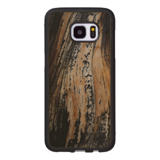 Burned Tree Trunk Texture Wood Samsung Galaxy S7 Edge Case