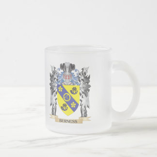 Burness Coat of Arms - Family Crest 10 Oz Frosted Glass Coffee Mug