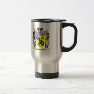 Burness Coat of Arms - Family Crest 15 Oz Stainless Steel Travel Mug