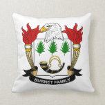 Burnet Family Crest Pillow