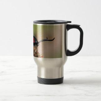 Burnet moth 15 oz stainless steel travel mug