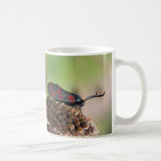 Burnet moth classic white coffee mug