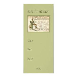 Burnet's Specialities 4x9.25 Paper Invitation Card