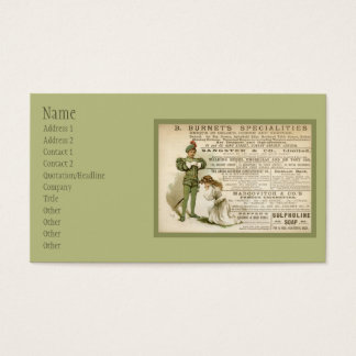 Burnet's Specialities Business Card