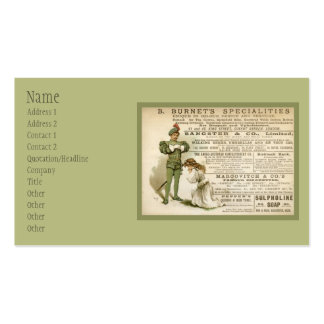 Burnet's Specialities Double-Sided Standard Business Cards (Pack Of 100)
