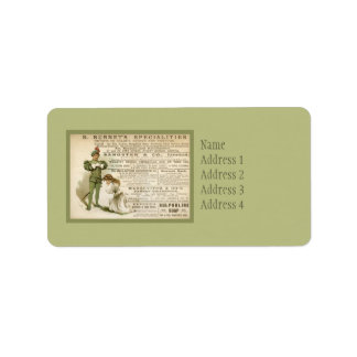 Burnet's Specialities Personalized Address Label