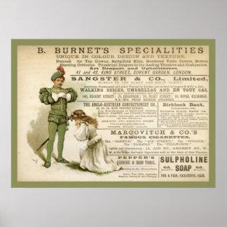 Burnet's Specialities Poster