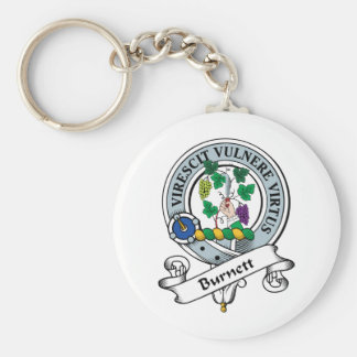 Burnett Clan Badge Basic Round Button Keychain