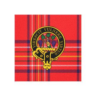 Burnett Scottish Crest and Tartan Canvas print