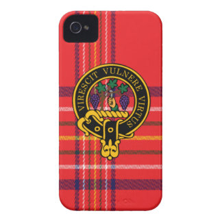 Burnett Scottish Crest and Tartan iPhone 4 Case