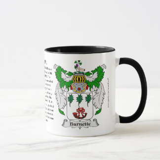 Burnette Family Coat of Arms Mug