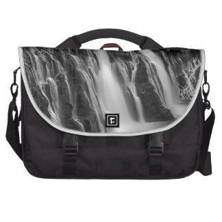 Burney Falls in Black and White Laptop Bag